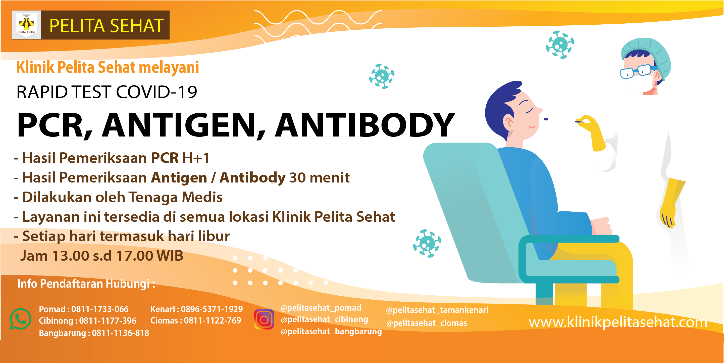 info PCR, antigen, antibody